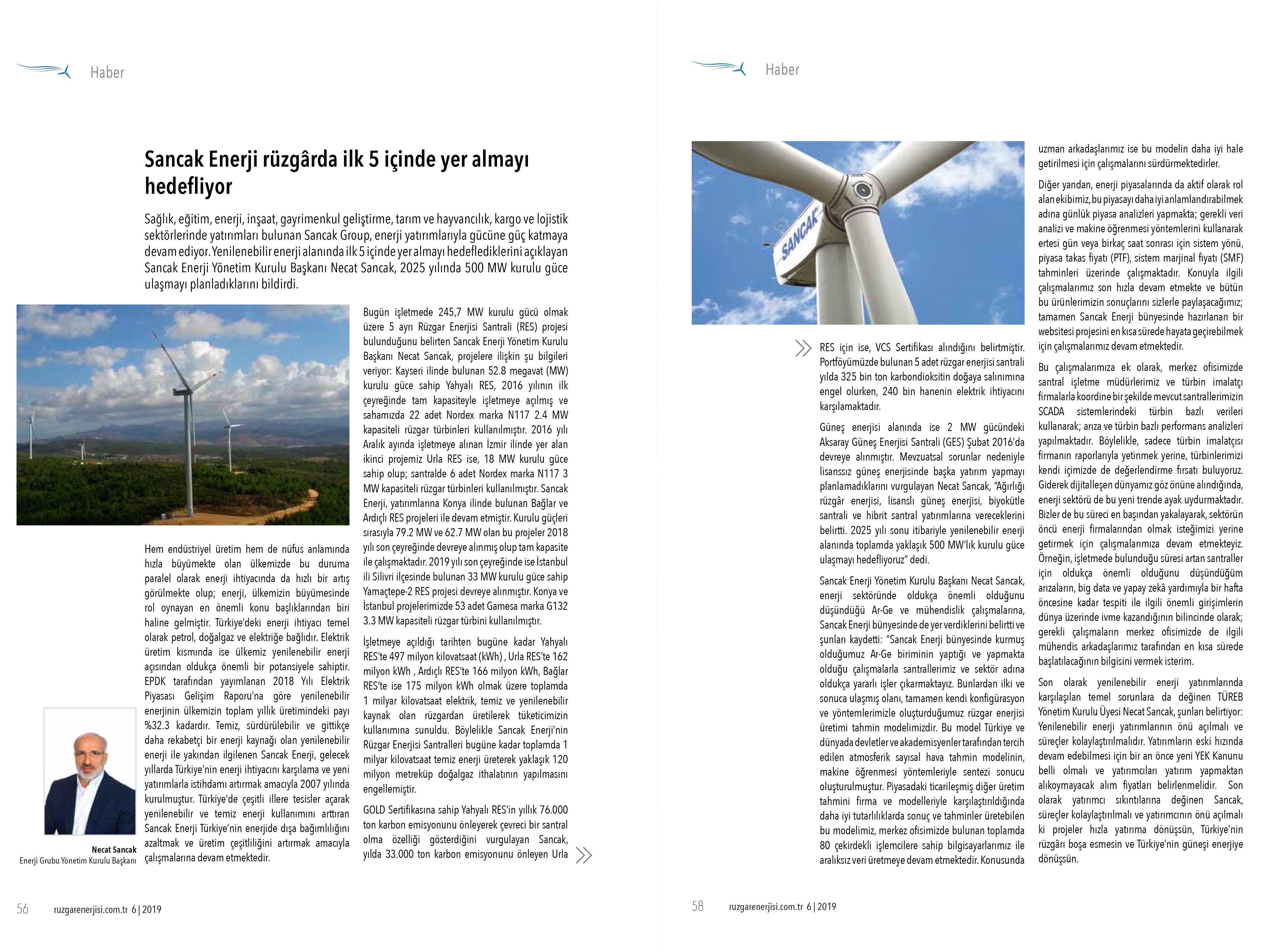 Rüzgar Enerjisi Dergisi